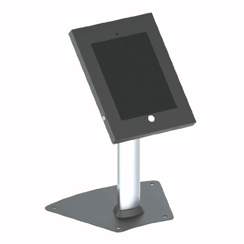 Pyle B00G1OJIPC Manipulationssichere Kiosk Desk Table Stand/Halter/Public Display-Gehäuse mit Kabelmanagement für Apple iPad 2/3/4/Air -