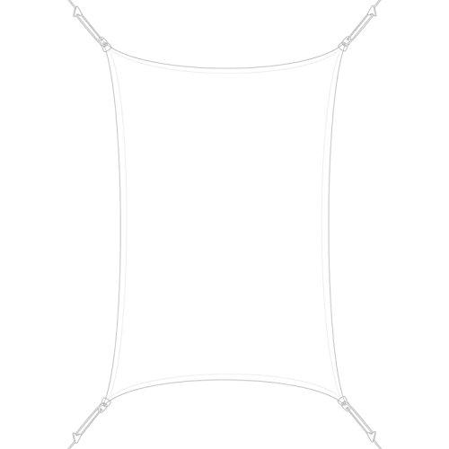 SUN & VELA Voile d'ombrage Rectangle Extensible Easy Sail Blanc, 300x200x200 cm