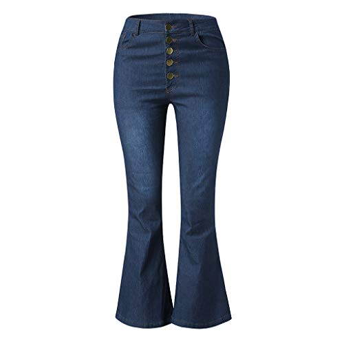 8cef21dcd22 Auied Women Autumn Elastic Plus Loose Denim Pocket Button Casual Boot Cut  Pant Jeanswomen S Slim Straight