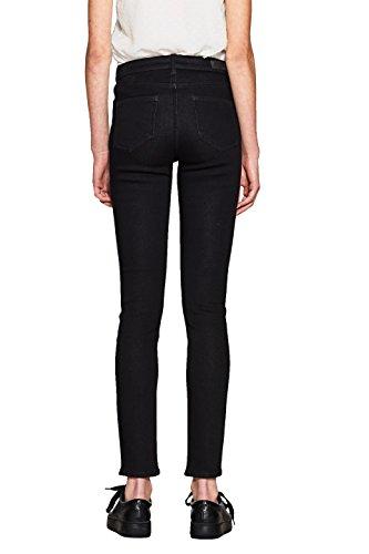 edc by ESPRIT Damen Skinny Jeans Schwarz (Black Rinse 910)