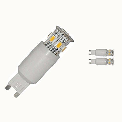 lumenbest G9240V LED dimmerabile 9SMD LED 3,5W 120gradi Illuminazione Interna 260lumen freddo bianco sostituire alogena da 40W compatibile Leading Edge e rrailing Edge dimmer, confezione da 2