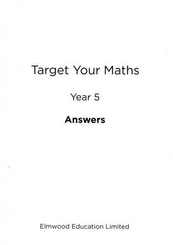 Target Your Maths Year 5 Answer Book: Year 5 by Stephen Pearce (30-Nov-2014) Paperback