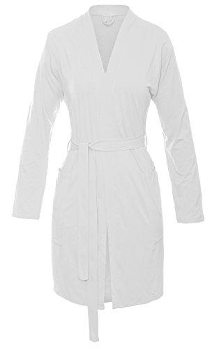 DKaren INES Morgenmantel Weich Bequem Robe Nachtwäsche Bademantel Kimono Schlafanzug Ekri