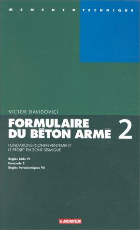 Formulaire du béton armé V2 par Victor Davidovici