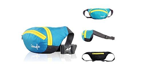 Outdoor peak NYLON Herren Damen Fahrrad tragbaren Taschen Messenger Bag Hüfttasche Gürteltasche Bauchtasche (rot) lake blau