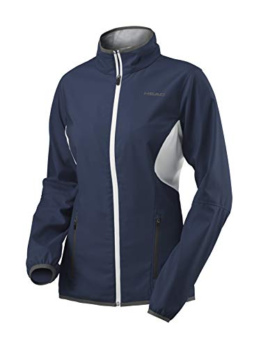 HEAD Mädchen Club Woven Jacket Girls Trainingsanzüge, dunkelblau, 128