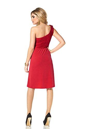 Melrose - Robe - Asymétrique - Opaque - Femme Rouge Rouge Medium Rouge - Rouge