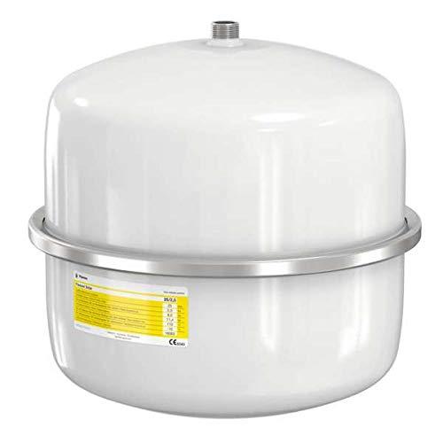 Flamco 16062 Flexcon Solar Ausdehnungsgefäß, 18 L, 2,5 bar für Solaranlagen, weiß