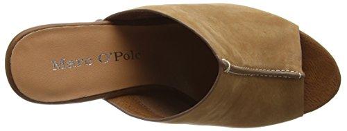 Marc O'Polo - High Heel Peeptoe, Sandali con platea Donna Marrone (Braun (cognac 720))
