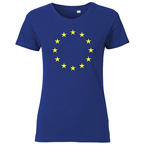 OutlawTex - Europa - Damen T-Shirt Blau M -