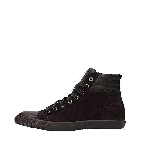 A85Y0465DC011R02SE Ralph Lauren Sneakers Uomo Camoscio Nero Nero