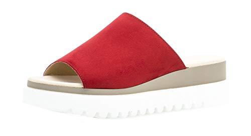 Gabor 23.613 Damen ClogsPantoletten,Clogs&Pantoletten, Frauen,Pantolette,Hausschuh,Pantoffel,Slipper,Slides,Best Fitting,Cherry,5 UK - Koch Schuhe-clogs