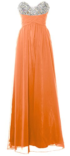 MACloth Women Strapless Long Prom Dress Classic Chiffon Formal Evening Gown Koralle