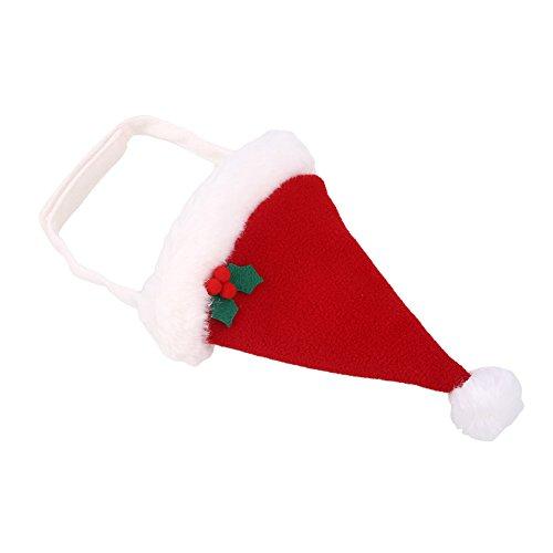 Kicode Pet Puppy Dog Gatto Cappello da Babbo Natale rosso bello sveglio Festa di Natale Xmas Dress Up Accessori Costume Decor