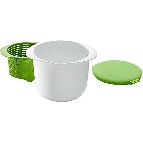Lékué 0220100V06M017 - Recipiente para hace queso fresco, color verde