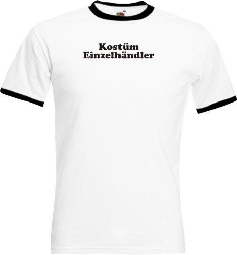 Ringer Shirt Karneval Kostüm Einzelhändler Fasching Kostüm Verkleidung,Farbe weiss-schwarz, Größe XXL (Kostüme Einzelhändler)