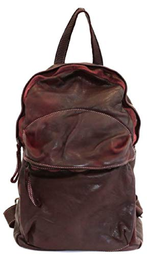 BZNA Bag Noah bordeaux Backpacker Designer Rucksack Damenhandtasche Schultertasche Leder Nappa ItalyNeu