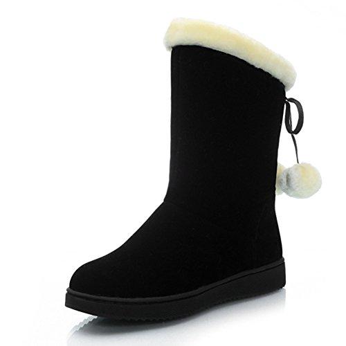 Ladies snow boots/E scarpe di velluto in inverno/ gli studenti con stivali flat/ sweet lady scarpe-A Lunghezza piede=23.3CM(9.2Inch)