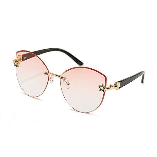 WULE-RYP Polarisierte Sonnenbrille mit UV-Schutz Frameless Outdoor-Sonnenbrillen für Frauen, einfach , getrimmte Marine-Teile, Farbverlauf Superleichtes Rahmen-Fischen, das Golf fährt