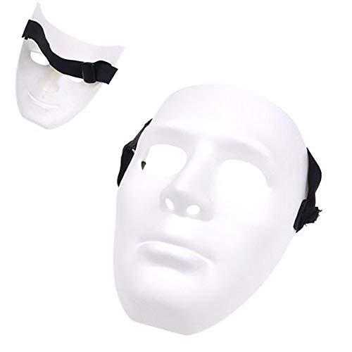 Carry stone Leere männliche Maske Halloween Kostüm Drama Maske Leere handgemalte Maske