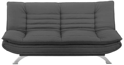 AC Design Furniture 47395 Schlafsofa Jasper, Bezug Stoff dunkelgrau, Füße Metall verchromt, Liegefläche: ca. 196 x 123 cm
