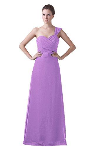 Bridal_Mall - Robe - Trapèze - Sans Manche - Femme Violet - Lilas