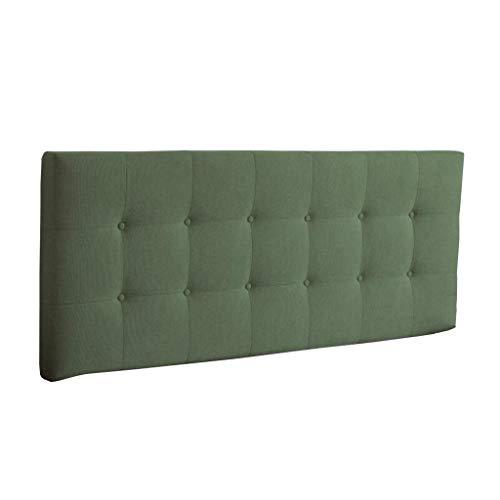 Uus Bedside Cushion, Kopfteil Pads Cover Bett Wedges Rückenstütze Tail Pad Leinen Soft Case Waschbar Bett Kissen einfach mit Kopfteilen/Keine Kopfteile 4 Größen (grün) Pillow (Doppelbett Kopfteile)