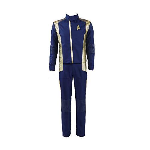 Zhangjianwangluokeji Halloween Raumfahrt Uniform Discovery Commander Cosplay Outfit (Small, Gold für - Star Trek 7 Von 9 Kostüm