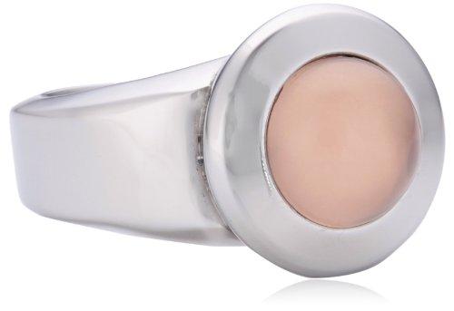 Xen Damen-Ring Edelstahl Rosenquarz rosa Gr.52 (16.6) 011677G52