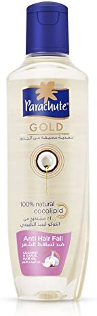 Parachute Gold Anti Hairfall Coconut & Garlic Hair Oil - 200 ml