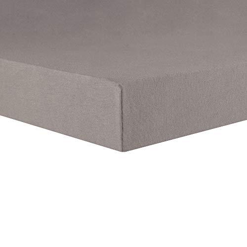 CelinaTex Lucina Topper Spannbettlaken 200x200-200x220 dunkel grau Baumwolle Spannbetttuch