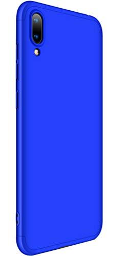 XINFENGDI Huawei Y7 Por(2019) Hülle, Ultra Dünn PC Plastik Schutzhülle Telefon Schutz Von Fallen Und Schock mit Displayschutz für Huawei Y7 Por(2019) - Blau
