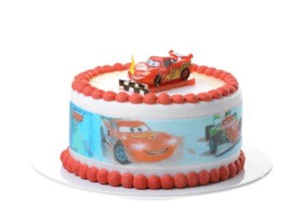 Ruban décor coutour DE GATEAU disque pour gateau thème DISNEY CARS pour décoration de gâteau anniversaire - diamètre 28cm hauteur 6.6 cm