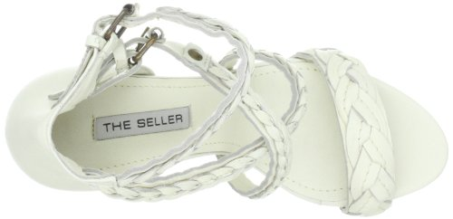 The Seller Alena S468, Sandali donna Bianco (Weiss (lattesughero))
