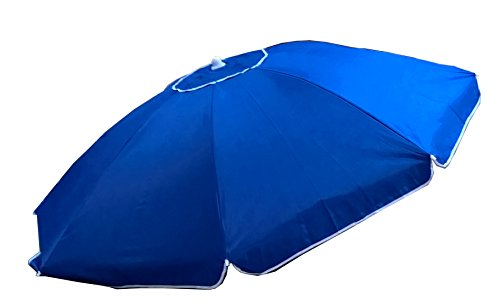 Ombrellone mare spiaggia antivento con snodo cayman blu