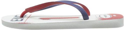 Havaianas Teams II white/black/red H4130533-3859 Unisex-Erwachsene Zehentrenner White/Navy Blue