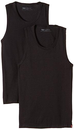 Levi's - 2 pack tank, maglietta da uomo, senza maniche, nero (black), xl