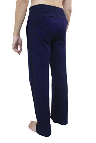 Men's YogaAddict Yoga-Pantaloni lunghi, arti marziali (Pantaloni prezzo di vendita), frase introduttiva Blu - Blu navy