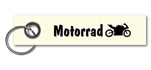 Samunshi® Schlüsselanhänger Motorrad Keychain Schlüsselbund Schlüsselring Samunshi Motorrad 13x3cm Creme/schwarz - Creme Plüsch