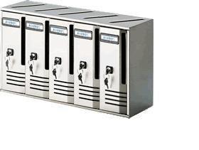 Cassetta postale casellari blocchiere 5 elementi colore argento alubox