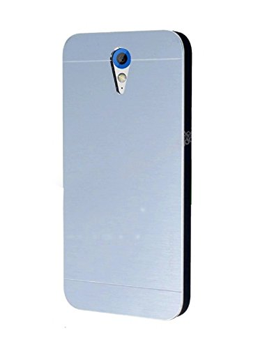 AE Brushed Metal Back Case Cover for HTC DESIRE 620 silver