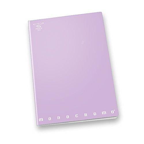 Pigna monocromo pastel 02282125m, quaderno formato a4, rigatura 5m, quadretti 5 mm per 2° e 3° elementare, carta 80g/mq, pacco da 10 pezzi