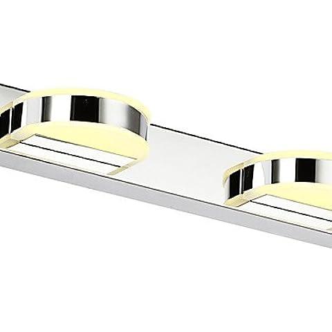 Industriale moderna parete in ottone applique Lampada parete retrò rustico luce parete Vintage LightAC 85-265 8W LED integrato moderno contemporaneo/LED,luce ambiente Illuminazione per bagno luce da parete , bianco caldo-220v