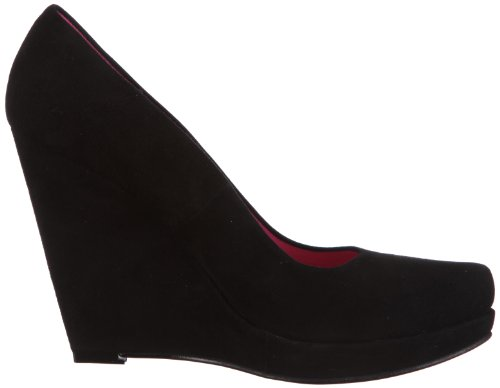 Buffalo London 9669-198 KID SUEDE 118599 Damen Pumps Schwarz (Black 01)