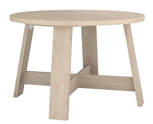 Wohnorama Esstisch rund ca. Ø 120 cm erweiterbar Vanille 15 von Parisot Eiche Jackson by - Erweiterbar Konsole Tisch