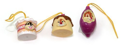 Disney Chip ' n Dale Nutty Wear 3 Figures Set--Dale Yam, Dale Vanilla Jelly, and Chip Strawberry Cake by Disney -