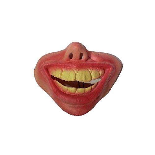 Adult Party Lustige Scary Horrible Maske Halloween Fool's Day Latex Maske Cosplay Kostüm Halbe Gesichtsmaske Big Buck Zähne
