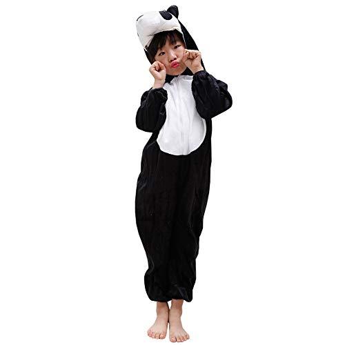 LPATTERN Unisexe Enfant Fille Garçon Combinaison Pyjama Animaux Onesie Déguisement Cosplay Costume Animal, Panda, 12-14ans(Hauteur recommandée:160-170)