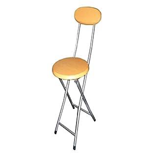 AQS 94cm Beechwood Effect Folding Breakfast Bar Stool High Chair With Back Rest New