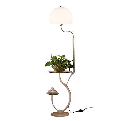 Stehleuchte |Moderne Stehlampe mit kleinem Tisch |für Wohnzimmer Schlafzimmer Arbeitszimmer 160X35cm zum Lesen -